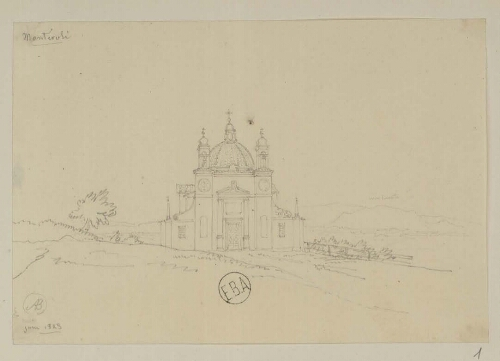 [Ensemble de dessins de Toscane, 1823-1825]
