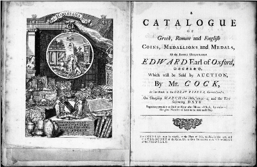Catalogue of Greek, Roman and English Coins, Medallions and Medals, of the Right Honourable Edward Earl of Oxford [...] : [vente du 18 mars 1742]