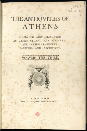 Antiquities of Athens. Tomes 3 et 4