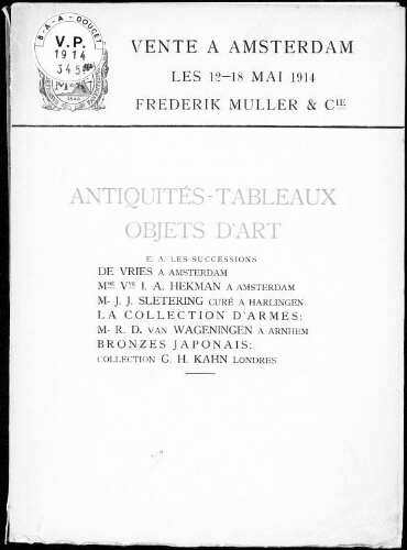 Étoffes coptes, collection X [...] : [vente du 14 mai 1914]