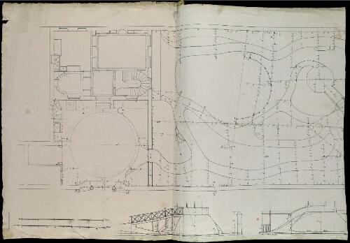 Plan D Un Jardin Anglais Avec Habitations