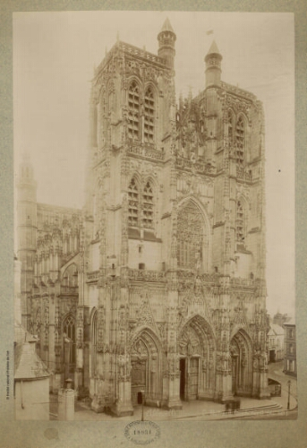 Abbeville (Somme), St Wulfrand [sic], façade ouest (mai 1887)