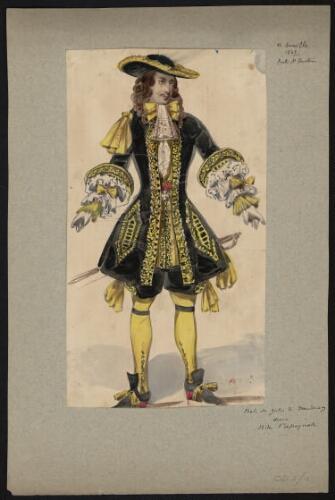 Dessin de costume pour rita l 39 espagnole th tre de la - Theatre de la porte saint martin 75010 paris ...