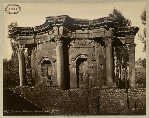 Balbeck, temple circulaire. Syrie
