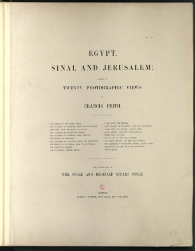 Egypt, Sinai and Jerusalem