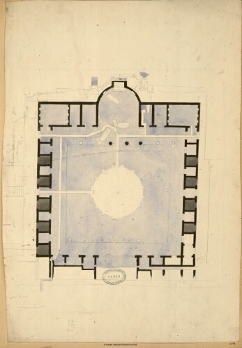 [Pozzuoli, Temple de Jupiter Sérapis : plan d'ensemble]