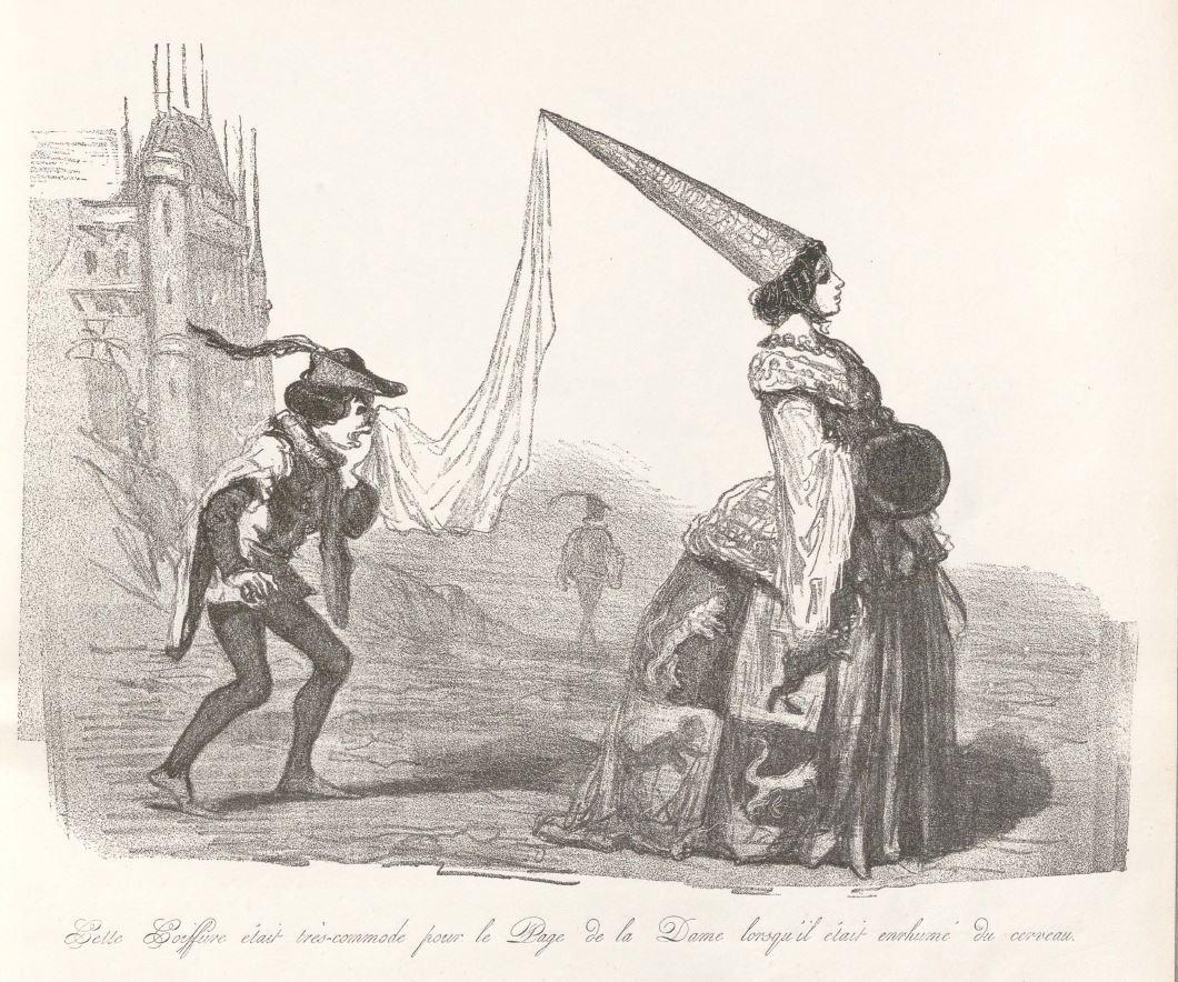 Cham, Les Tortures de la mode, Au bureau du journal Les Modes parisiennes et du Journal amusant, lithographie, [1857]. Paris, bibliothèque de l'INHA, 4 EST 565. Cliché INHA